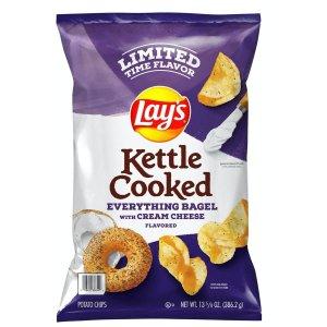 上新:Lay's 限量版奶油芝士贝果口味薯片 13.58oz