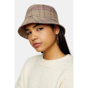 Topshop格纹渔夫帽