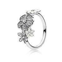 Pandora 闪烁花束925银+珐琅戒指 尺寸52