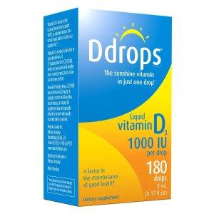 DdropsBuy 1, Get 1 50% OFFVitamin D3 1000 IU