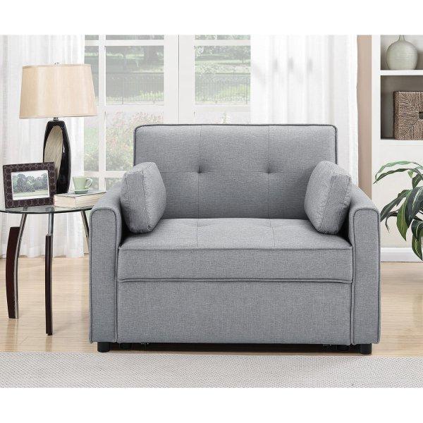 Chloe 二合一布艺沙发椅/沙发床