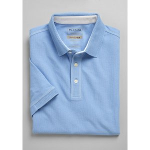 3 for $99Travel Tech Tailored Fit Short Sleeve Polo - Traveler Polo Shirts | Jos A Bank