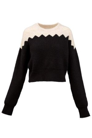 J.ING Women's Knitwear | Black & White Sweater