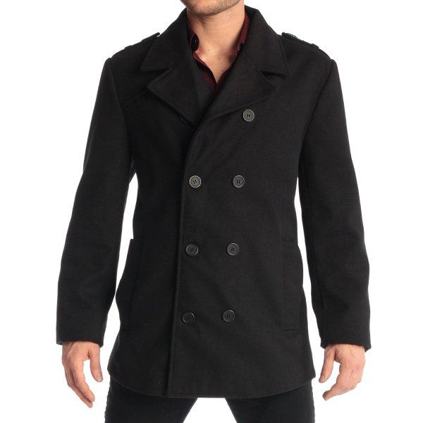 男士双排扣混羊毛大衣