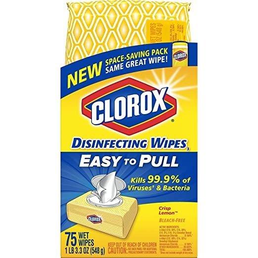 Clorox 消毒湿巾 75片