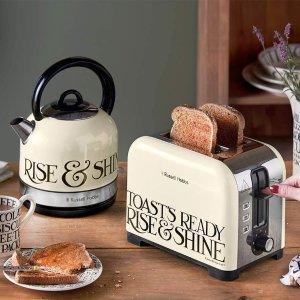 低至5.3折 £25收高颜值烧水壶Russell Hobbs 厨房家电好价热卖 必备烧水壶、蒸汽熨斗
