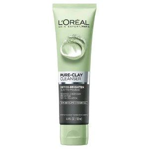 L'Oreal Paris Pure Clay Cleanser - Detoxify & Brighten - 4.4oz