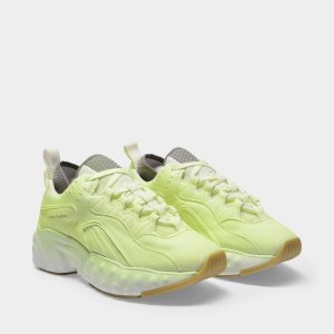 Acne StudiosManhattan Overdyed Sneakers in Fluo Yellow Leather