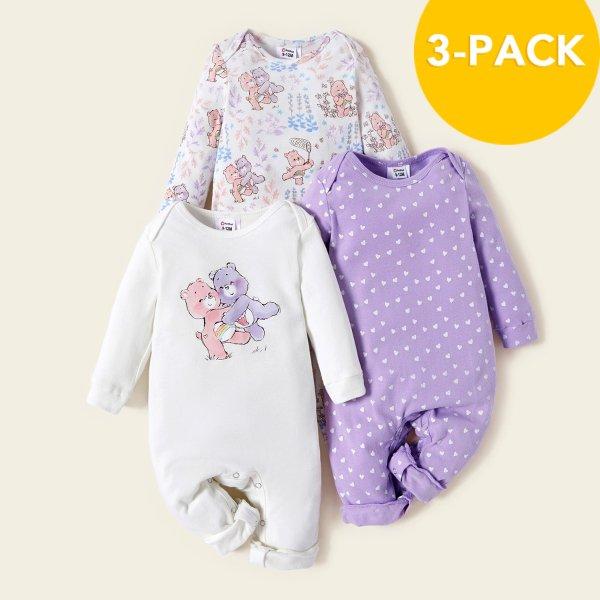 女婴连体衣三件套