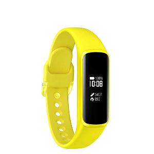 跟随身体状况记录你的健康生活节奏 荧光换首歌更年轻更醒目Samsung Galaxy Fit e运动手环 荧光黄色 特价 折后€25.72 (原价€39)