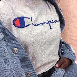 低至6折,T恤$18收最后一天:Champion 博主网红爆款卫衣,T恤特卖