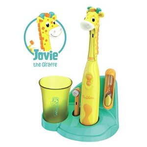 $19.99+包邮折扣升级:Brusheez 超可爱动物造型儿童电动牙刷套装 四色可选