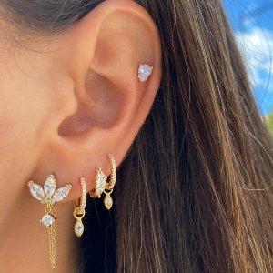 低至4折 封面同款耳坠$28Adina's Jewels 精美首饰专场,收水钻戒指、珍珠耳环