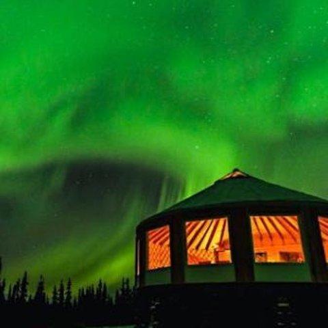 $79起  极光小屋提供暖气和热饮小吃阿拉斯加费尔班克斯极光观测半日游 含极光小屋门票