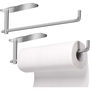 JUOIFIP 2 Pack Under Cabinet Paper Towel Holder @Amazon