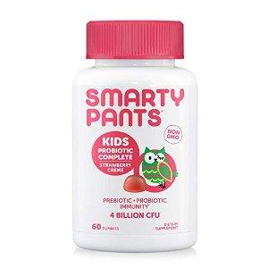 非转基因每日复合维生素儿童款,添加益生菌,草莓奶油口味60粒
