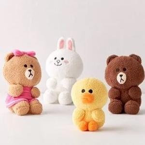 低至8折 收布朗熊可妮兔GUND × Line Friends 合作款毛绒玩具 治愈系萌物带回家