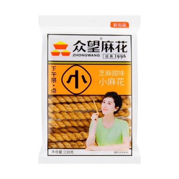 众望 小麻花 低糖芝麻甜味 130g