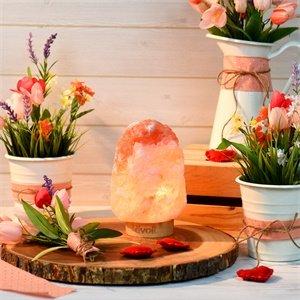 折后€29.99 安静冥想Levoit Kana 天然盐灯热促 喜马拉雅盐水晶制成 带木制底座
