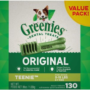 Greenies 狗狗洁牙棒130根,适合5-15磅的狗狗