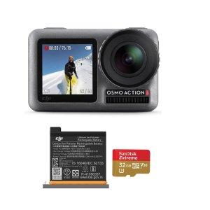 $247 包邮DJI OSMO Action 灵眸运动相机套装, 含额外电池+32G储存卡
