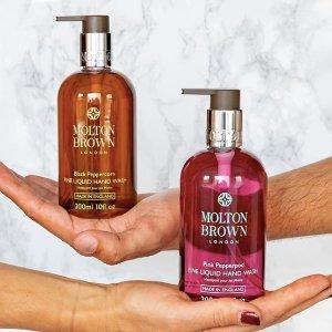 低至65折+任意单送身体乳Molton Brown 洗护产品促销热卖