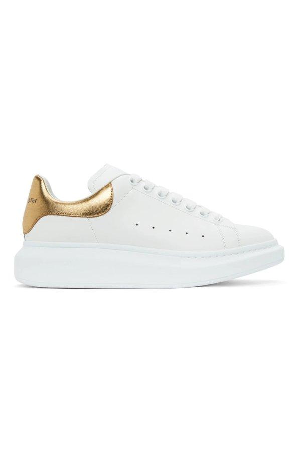 金色小白鞋
