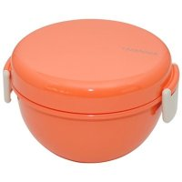 Takenaka 珊瑚色圆形便当盒