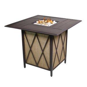Courtyard Creations 42.3-in W 37,000-BTU Black Walnut Tabletop Steel Liquid Propane Fire Table