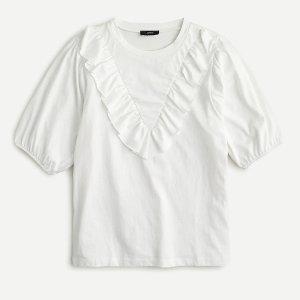 J.CrewRuffle bib T-shirt