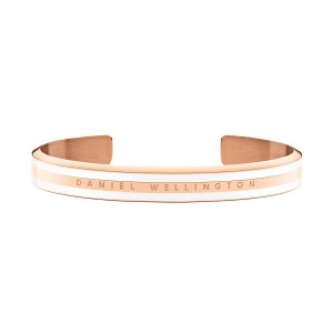 Buy one get one for freeClassic Slim Bracelet Rose Gold Satin White Small