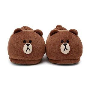 Line Friends布朗熊棉拖鞋