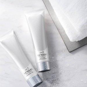 全线8折 €44.76收奶霜洁面膏SENSAI 日本贵妇护肤 卸妆啫喱+面膜 双重清洁 用出嫩滑润肌