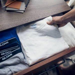 $14.99起 黑白双色可选白菜价:美亚直营Gildan男子基本款T恤 6件装