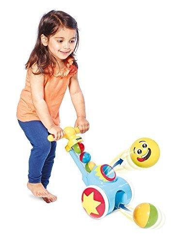 学步玩具,边推边发射彩球
