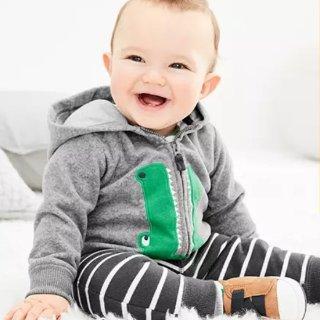 4折+无门槛7.5折 三件套$8.1起Carter's官网 儿童套装服饰周末热卖,换季必备实用款