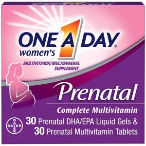 One A Day Women's Prenatal Multivitamin Two Pill Formula, Supplement for Before, During, and Post Pregnancy, Including Vitamins A, C, D, E, B6, B12, Folic Acid, and Omega-3 DHA, 30+30 Count - Walmart.com
