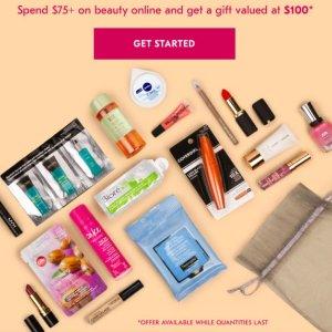 满$75送18件套大礼包 (价值$100,含正装)Shoppers Drug Mart 彩妆护肤香水全场满额送双重豪礼