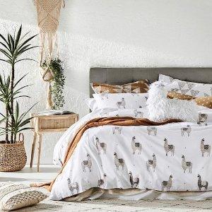 被套Llama Natural Quilt Cover Set
