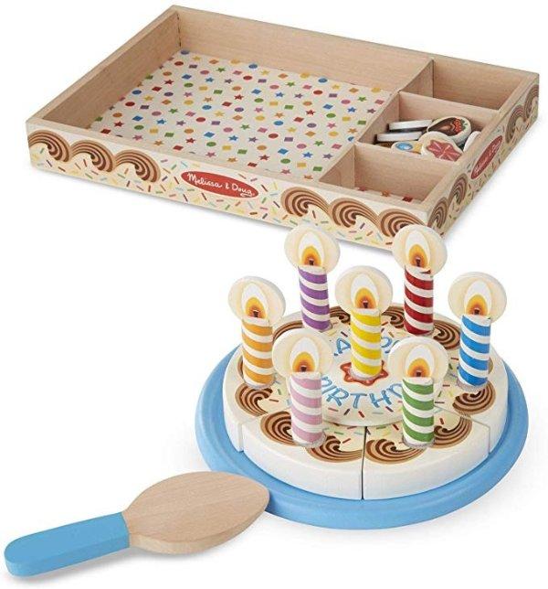 34件木质生日蛋糕积木