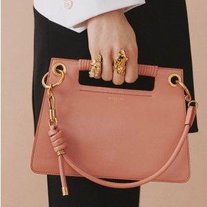低至5折 $100+收粉色竹篮包TESSABIT 大牌美包特卖 $266收丝绒箭头包