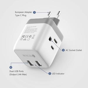 $8.99(原价$22.99)史低价:T TECKIN 五合一适配器 兼容双电压、多电压电子产品