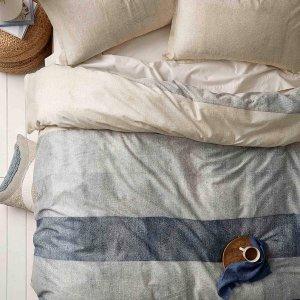 100%纯棉牛仔风 被套+枕套