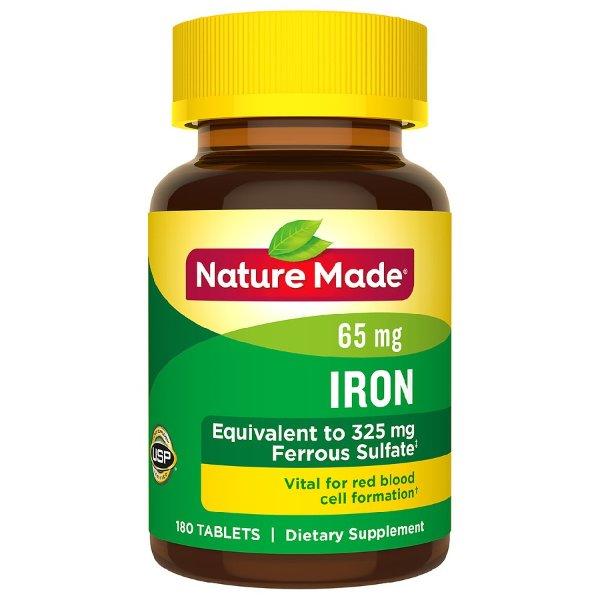 铁元素 65 mg 180粒