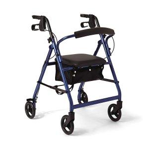 $60.74(原价$216.90)手慢无:Medline 4轮折叠助行器/老人购物车