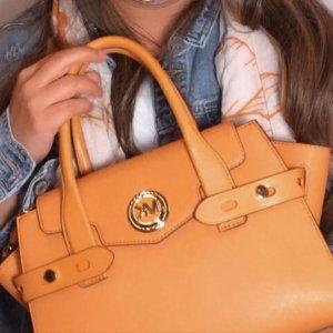 MICHAEL Michael Kors大号,34 x 22 x 15cm Carmen Satchel 橘黄色手袋