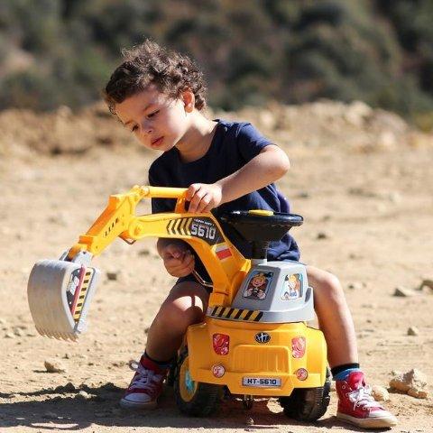 儿童挖掘机骑行小车,可手动调控挖头