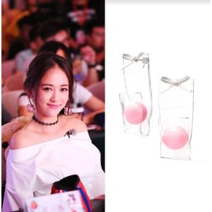 YVMINPink Ball With Bowknot Earrings