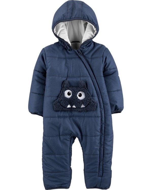 婴儿怪兽连体防寒外套