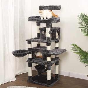 8.6折,带吊床、猫窝、抓板、毛绒玩具大型猫爬架 170*60*50 cm